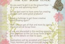 Design/Creative Team Projects / Projects using Cat Scrap Fever designs made by the creative/design team / by Cat Scrap Fever Designs