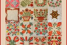 Antique Applique Samplers / Antique Applique Sampler Quilts are a great source of inspiration