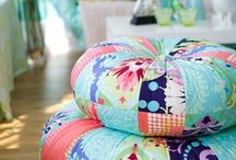 Large floor cushions etc. / Funky seating or lounging.