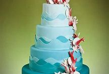 Blue Themed Wedding Cakes Ideas