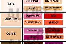 culori ruj piele maslinie