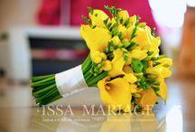Buchet mireasa din cale si trandafiri galbeni / buchet din cale si trandafiri galbeni