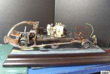 After Reggaeton / Diorama vehicle Apocalypse  of type Mad Max 1/35 fantasy sf sci fi rust www.tapir-models.ro