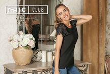 Nic Club | Tops | Топы / Топы — свитшоты, худи, куртки, кардиганы, сливеры, майки и футболки. Каждая модель выполнена из высококачественного трикотажа. Купить оптом женскую одежду Nic Club вы можете на нашем официальном сайте.