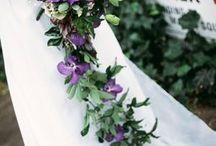 Trailing bouquets