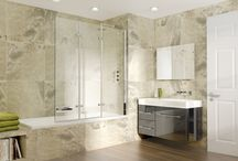 Aqata Bath Screens / Our bath screens provide the ultimate in over the bath showering, giving a versatile, simple and yet practical solution creating an effective barrier against over spray.