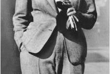 vintage années 30/ 40 / L'élégance des tenues au tombé fluide et pantalons larges