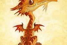 Драконы - Dragon / О  магических существах - About magic essence