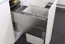 Premium Pull Out Kitchen Bins / Renowned for German quality in their kitchen storage portfolio, Vauth-Sagel now offer pull out kitchen bins. Their Oeko xx liner range features soft close waste bins that pack a large capacity, convenient waste system into a small kitchen space. Options available to suit cabinet widths of 300, 400, 450, 500 and 600mm.