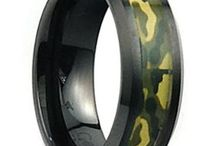 Camo promise rings for him