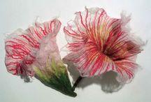 kwiaty filc