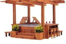 Spa pool deck