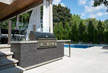 Outdoor Kitchen   Mississauga / 2017 Outdoor Kitchen Project in Mississauga, Ontario, Canada. Featuring Built-in Grilling Equipment, Cabinetry Storage For Outdoors.