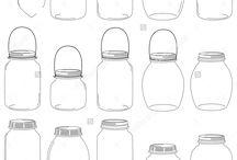 Cutting & Stencil - Mason Jars