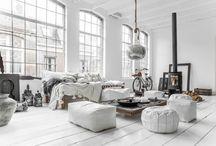 Minimal Interior Design / Inspiration for my interior. White and minimalist interiors in the scandinavian style.