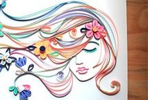 Quilled lady face