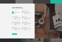 One Page PSD Template / One Page PSD Template for Agency, Creative, Portfolio, Personal