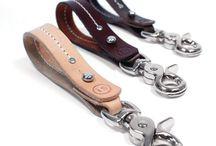 Läderideer läderarmband nyckelring keychain