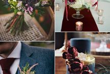 Wedding ideas / Colors dark red dark pink and gold