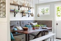 Banquette tables