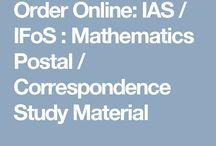 Best Online IAS / IFoS : Mathematics Postal / Correspondence Study Material
