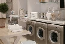laundry room / beautiful ideas & storage solutions for the laundry room / by Julie Blanner