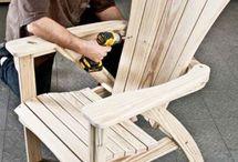 Деревянное кресло-лежак