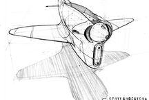 Scott Robertson_Spaceships
