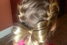 Hair styles and bows for Tenley