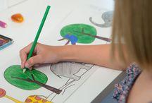 Kinderzimmerlampen / Hängelampen zum selbstgestalten / ausmalen / Kinderleuchten / Kinderzimmerlampen mit Buntstiften oder Prints (Aufkleber) selbst ausmalen und etwas Schönes mit den Nachwuchs gestalten