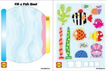 Fish / Art, math, fine motor, sensory and more activities centered around a fish theme.