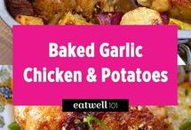 baked garlic and potatoes chicken