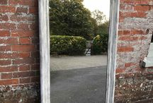 Decorative mirrors / Large and small decorative antique mirrors, antique wall mirrors, French painted mirrors, antique distressed mirrors, large antique mirror, wooden framed mirrors, portrait Louis Philippe Mirror, antique gilt mirrors, gilt wood mirror.