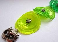 my work - necklace made of plastic bottles / Necklace made of recycled plastic bottles by Catena- Czech / náhrdelníky z PET lahví od Cateny