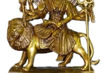 Goddess Brass Statue
