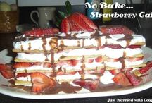 no bake strawberry cake / by Joseph Gersch Jr.