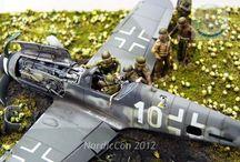 Diorama Airfore WW 1 / 2 & Modern