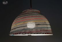 LUMME is a fair lampshade / LUMME ( Water lily) is a fair lampshade. It is designed in Finland by MUM's and made in the hands of artisans in Africa. Material is surplus wire which we buy at a telephone factory in Africa. Packed in a nice box, wire is fabric and comes in several nice colours.