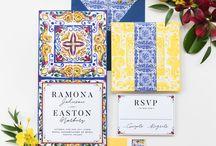 Wedding invitation Sicily