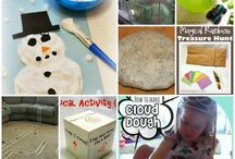 Snow Day Activities / Fun family and kid friendly activities for when it's cold outside.