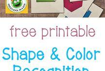 Shape and colour recognition