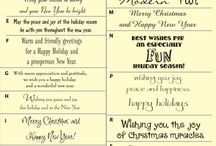 wording for xmas cards