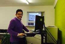 Our Lovely Customers / A selection of photos sent in from our VARIDESK customers of them standing at their workstations
