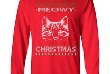 Ugly Christmas Sweater Cat Designs