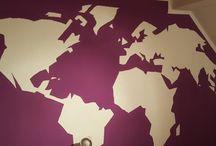 DIY Weltkarte / Weltkarte an Wand