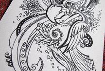 Zentangle Art and Doodles