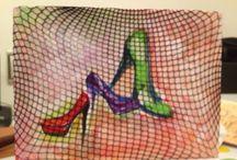mywork-oilpainting-Nermin Özkan-shoes-portre / Yağlı boya ayakkabı, akrilik