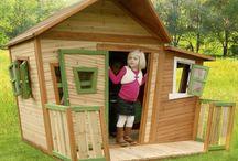 Children Wooden Playhouse Play House Outdoor Garden Furniture Slide Games Large