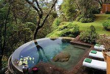 Banhos e banheiras em jardins