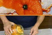 Limpiador con cáscara de naranja